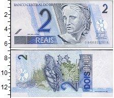 Изображение Банкноты Южная Америка Бразилия 2 реала 2001  UNC