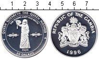 Изображение Монеты Африка Гамбия 20 даласи 1996 Серебро Proof-