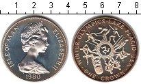 Изображение Монеты Остров Мэн 1 крона 1980 Серебро Proof-