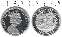 Изображение Монеты Великобритания Гибралтар 5 фунтов 2008 Серебро Proof-
