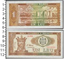 Изображение Банкноты СНГ Молдавия 1 лей 1992  UNC