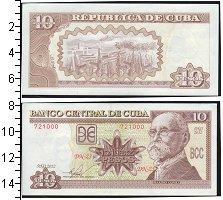 Изображение Банкноты Северная Америка Куба 10 песо 0  UNC-