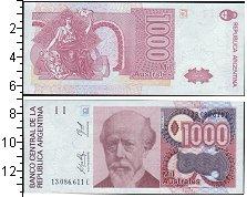 Изображение Банкноты Южная Америка Аргентина 1000 аустралес 0  UNC-