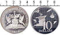 Изображение Монеты Южная Америка Тринидад и Тобаго 10 долларов 1976 Серебро Proof-