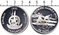 Изображение Монеты Вануату 50 вату 1992 Серебро Proof- Олимпийские игры 199