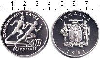 Изображение Монеты Ямайка 10 долларов 1986 Серебро Proof- Игры Содружества