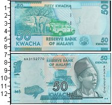 Изображение Банкноты Малави 50 квач 0  UNC-