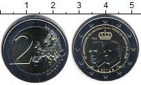 Изображение Мелочь Европа Люксембург 2 евро 2014 Биметалл UNC-