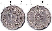 Изображение Мелочь Маврикий 10 центов 1959 Медно-никель UNC-