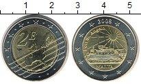 Изображение Мелочь Мальта 2 евро 2008 Биметалл XF