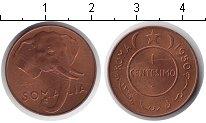 Изображение Монеты Африка Сомали 1 сентесимо 1950 Медь UNC-