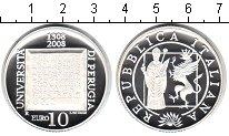 Изображение Монеты Италия 10 евро 2008 Серебро Proof- 700-летие Университе