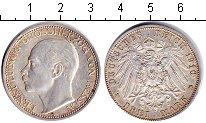 Изображение Монеты Гессен-Дармштадт 3 марки 1910 Серебро XF
