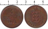 Изображение Монеты Великобритания Гернси 4 дубля 1945 Медь XF