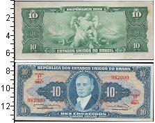 Изображение Банкноты Южная Америка Бразилия 10 крузейро 0  UNC