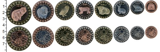 Изображение Наборы монет Антарктика Северный Полюс Северный Полюс 2014 2014  Proof-