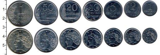 Изображение Наборы монет Южная Америка Бразилия Бразилия 1969-1978 0  UNC-