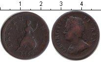 Изображение Монеты Европа Великобритания 1 фартинг 1754 Медь