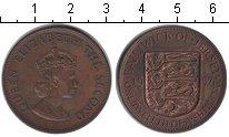 Изображение Монеты Остров Джерси 1/12 шиллинга 1957 Медь XF Елизавета II