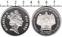 Изображение Монеты Фиджи 10 долларов 1993 Серебро Proof- 40-летие коронации