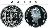 Изображение Монеты Австралия и Океания Новая Зеландия 5 долларов 1993 Серебро Proof-