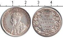 Изображение Монеты Северная Америка Канада 25 центов 1919 Серебро XF