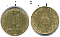 Изображение Дешевые монеты Южная Америка Аргентина 10 сентаво 1992