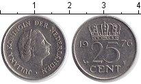 Изображение Дешевые монеты Нидерланды 25 центов 1976 Медно-никель XF