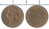 Изображение Дешевые монеты Европа Франция 5 сантим 1984