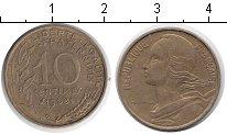 Изображение Дешевые монеты Европа Франция 10 сантим 1968