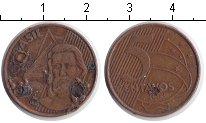 Изображение Дешевые монеты Южная Америка Бразилия 5 сентаво 2003