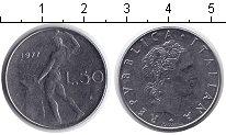 Изображение Дешевые монеты Италия 50 лир 1977 Железо XF