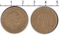Изображение Дешевые монеты Италия 200 лир 1978 Медно-никель XF