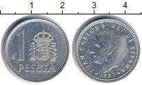 Изображение Дешевые монеты Европа Испания 1 песета 1987