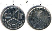 Изображение Дешевые монеты Бельгия 1 франк 1990