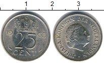 Изображение Дешевые монеты Нидерланды 25 центов 1965