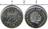 Изображение Дешевые монеты Нидерланды 25 центов 1980