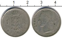 Изображение Дешевые монеты Бельгия 1 франк 1951