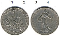 Изображение Дешевые монеты Европа Франция 1 франк 1961