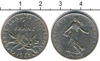 Изображение Дешевые монеты Европа Франция 1 франк 1965