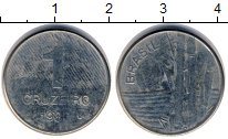 Изображение Дешевые монеты Южная Америка Бразилия 1 крузейро 1980