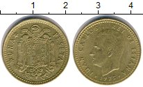 Изображение Дешевые монеты Европа Испания 1 песета 1975