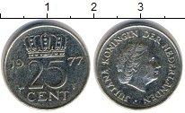 Изображение Дешевые монеты Европа Нидерланды 25 центов 1977
