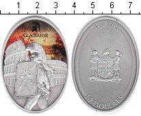 Изображение Монеты Фиджи 10 долларов 2013 Серебро UNC Гладиатор