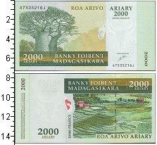 Изображение Банкноты Африка Мадагаскар 2000 ариари 0  UNC-