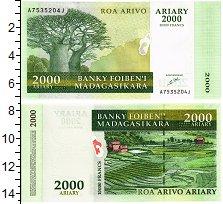 Изображение Банкноты Мадагаскар 2000 ариари 0  UNC