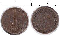 Изображение Дешевые монеты Нидерланды 1 цент 1957