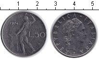Изображение Дешевые монеты Италия 50 лир 1974