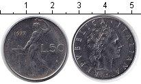 Изображение Дешевые монеты Италия 50 лир 1977