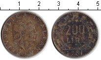 Изображение Дешевые монеты Италия 200 лир 1981